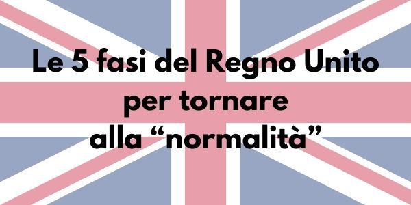 """Le 5 fasi del Regno Unito per tornare alla """"normalità"""""""